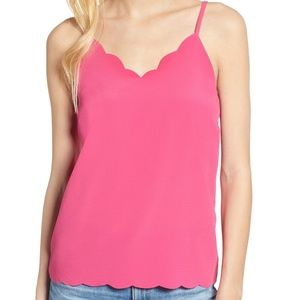 Halogen Pink Lilac Scallop Detail Camisole Large